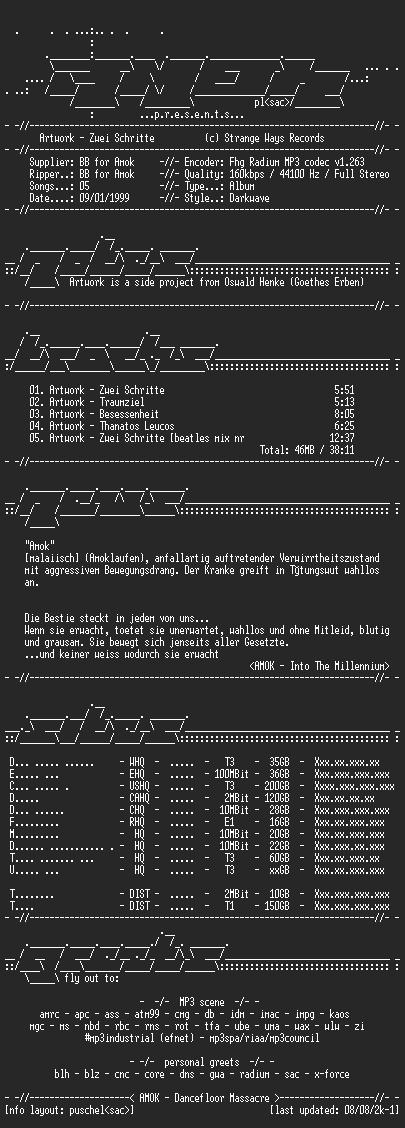 NFO file for Artwork-Zwei_Schritte-(1995)-AMOK