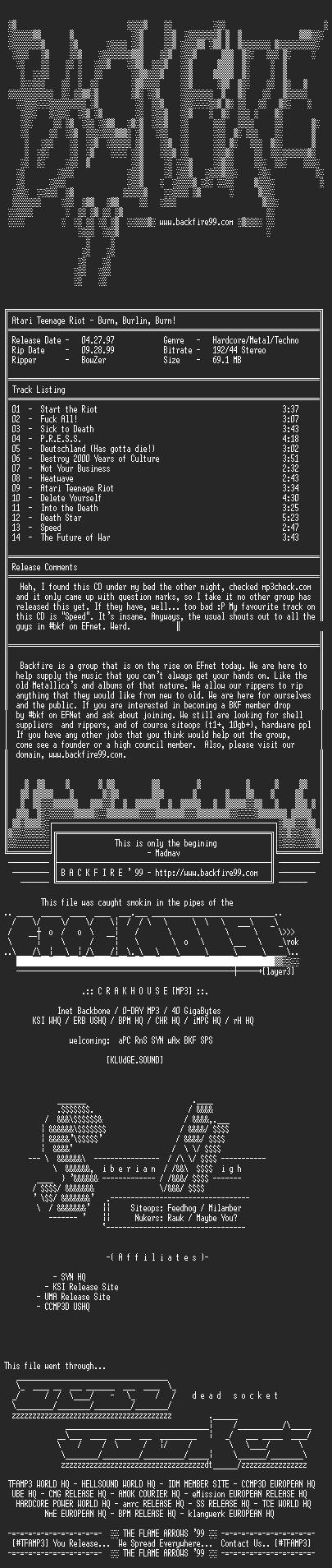 NFO file for Atari_Teenage_Riot-Burn_Berlin_Burn-1997-BKF