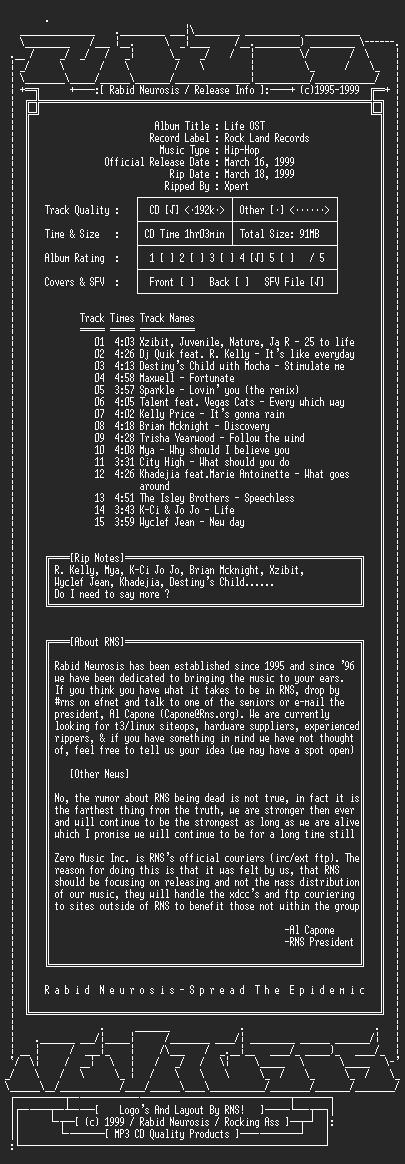 NFO file for VA-Life_OST-1999-RNS