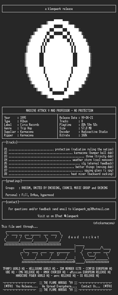 NFO file for Massive.attack.v.mad.professor--no.protection-1994-kW