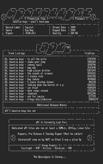 NFO file for Beastie_Boys-Pauls_Boutique-1989-aPC