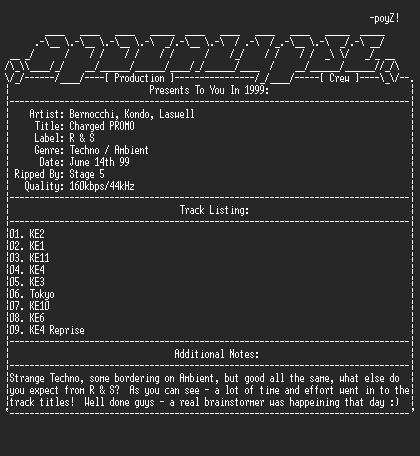 NFO file for Bernocchi_kondo_laswell-charged-promo-1999-apc