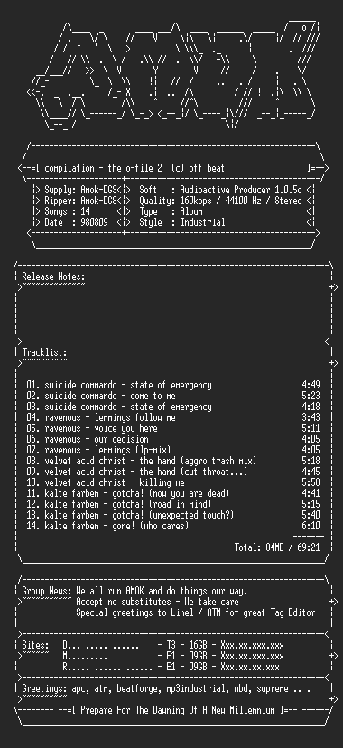 NFO file for Compilation-the_o_file_2-amok