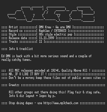 NFO file for DMX_Krew_-_We_Are_DMX-(CD1999)-MGC