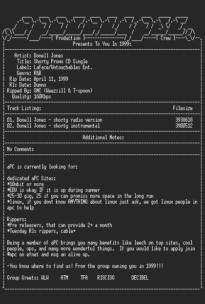 NFO file for Donell_Jones-Shorty_Promo_CD_Single-1999-aPC