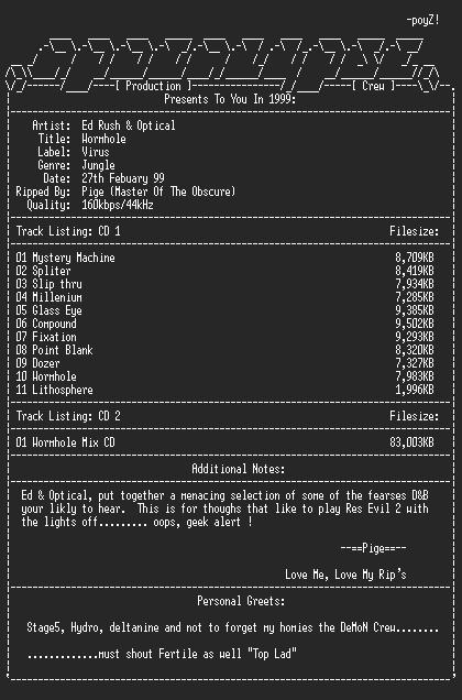 NFO file for Ed_rush_n_optical_pres_wormhole-apc-pige