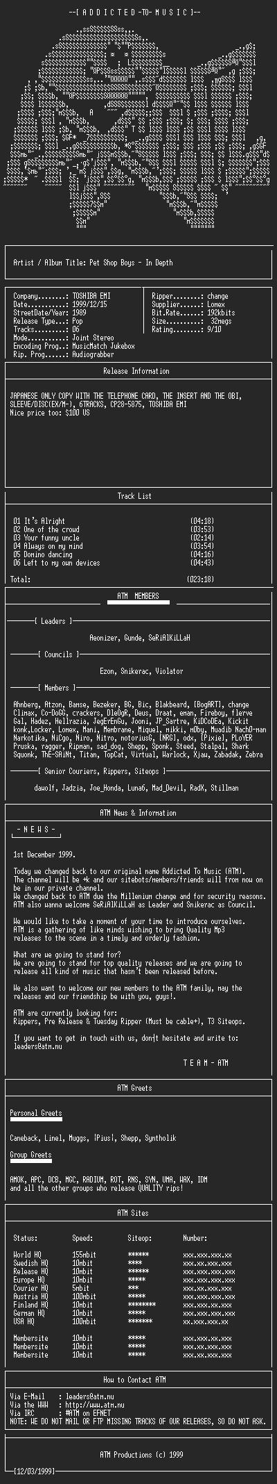 NFO file for Pet_Shop_Boys_-_In_depth_-_(1989)-ATM