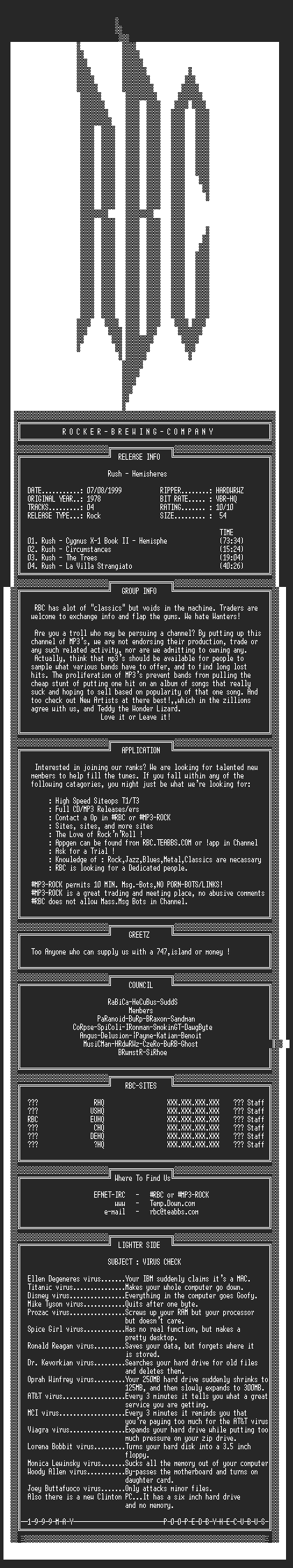 NFO file for Rush_-_Hemispheres_(1978)_-_RBC-VBR