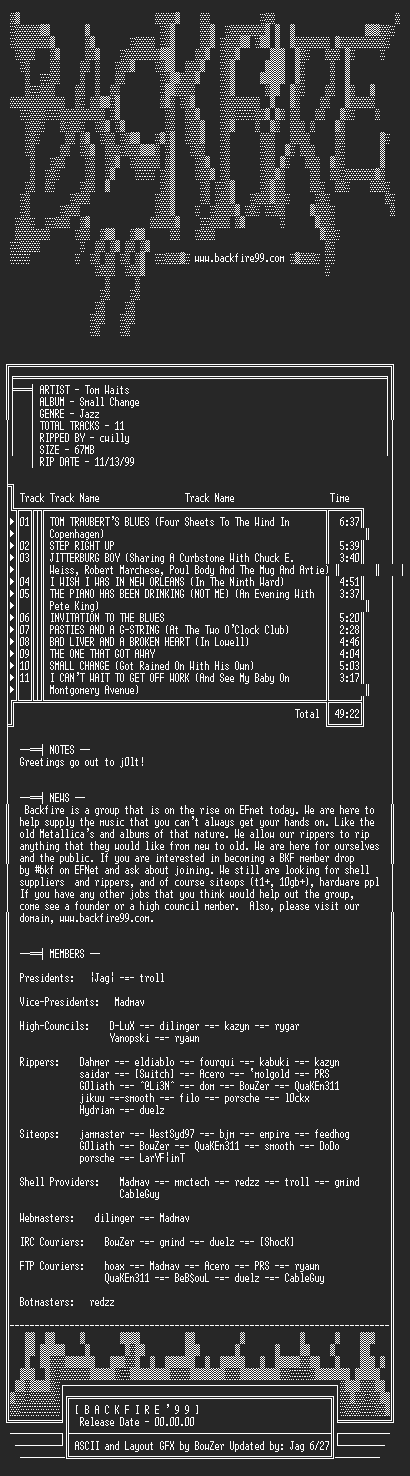 NFO file for Tom_Waits-Small_Change-1976-BKF