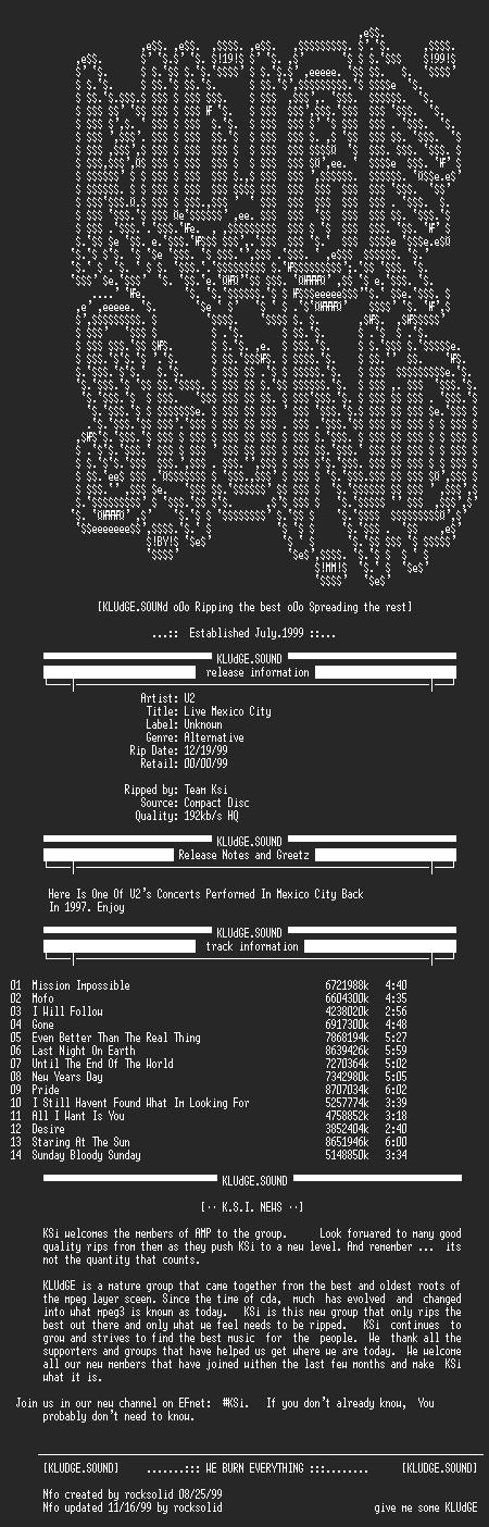 NFO file for U2-Live_Mexico_City-1997-KSi