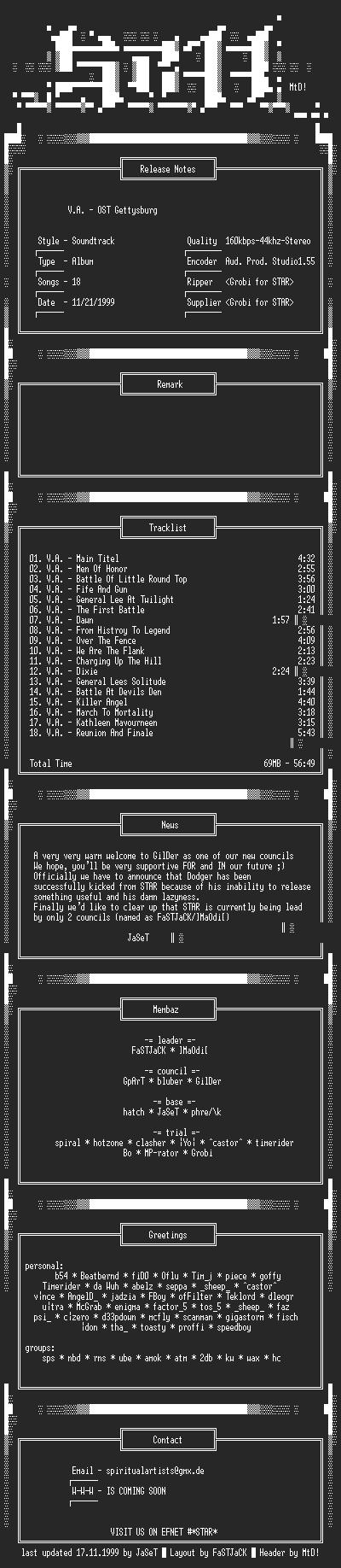 NFO file for V.A.-OST_Gettysburg-(1999)-STAR