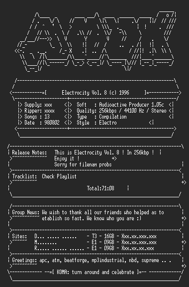 NFO file for Electrocity-vol8.amok