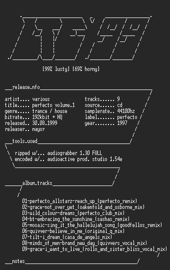 NFO file for VA-Perfecto_Volume_1-LtE