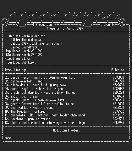 NFO file for Various_artists-the_mod_squad-1999-apc