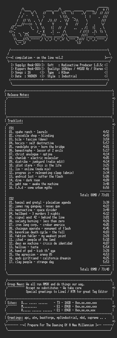 NFO file for Compilation-on_the_line_vol_2-amok
