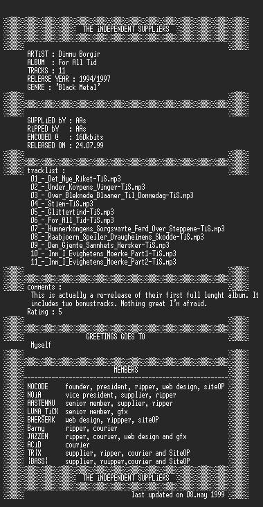 NFO file for Dimmu_Borgir_-_For_All_Tid-TiS