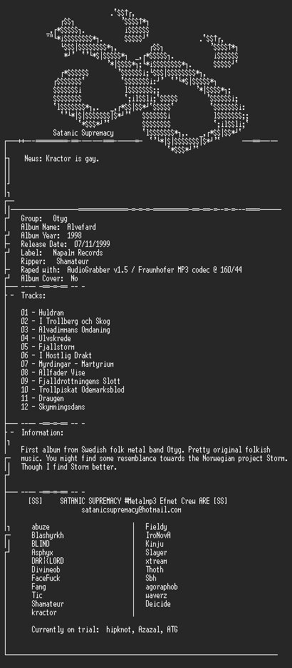 NFO file for Otyg_-_Alvefard-1998-ss