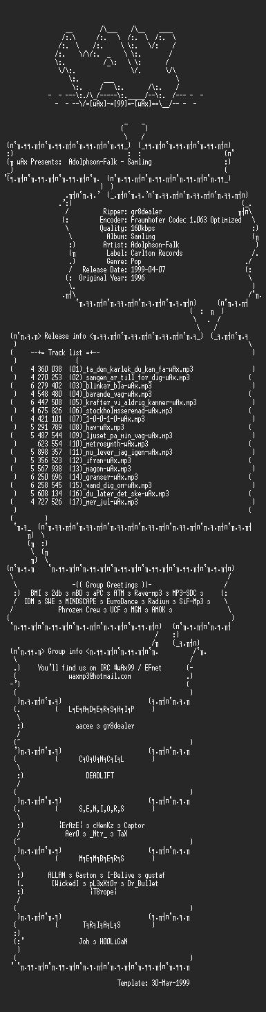 NFO file for Adolphson-Falk_-_Samling_(1996)-wAx