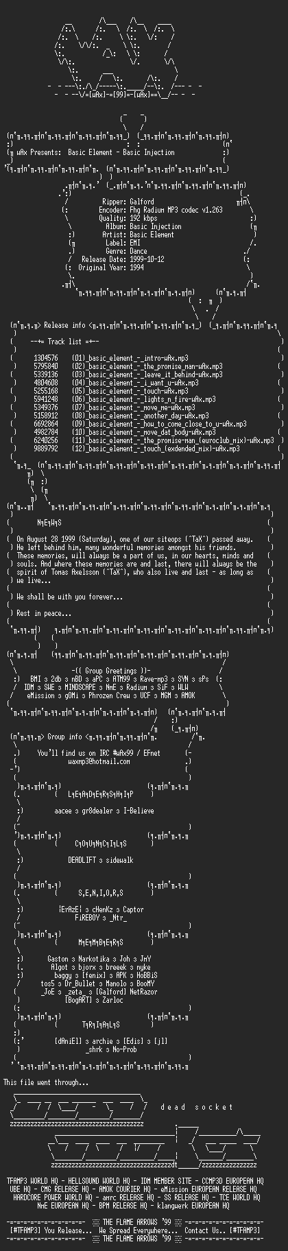 NFO file for Basic-Element_-_Basic_Injection_(1994)-wAx