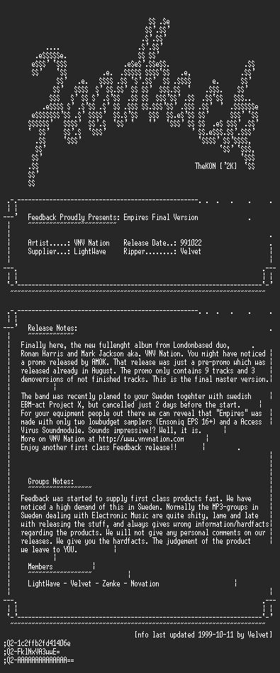 NFO file for VNV_Nation_-_Empires_Final_Version_CD_(1999)-FEEDBACK