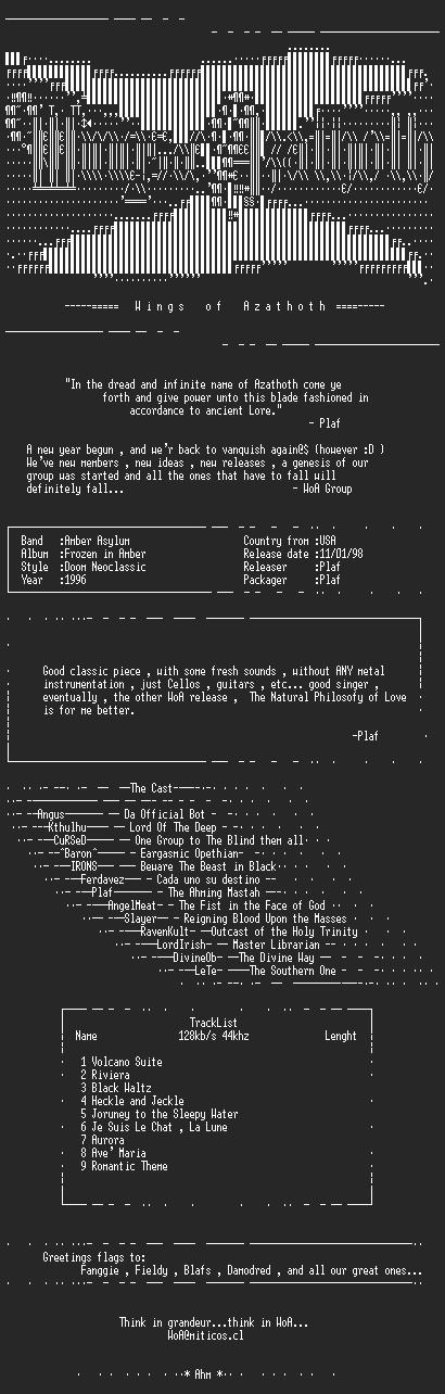 NFO file for Amber_Asylum-Frozen_in_Amber-WoA