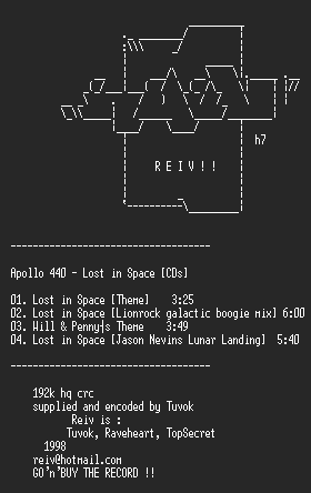 NFO file for Apollo_440_-_Lost_in_Space_-_REIV