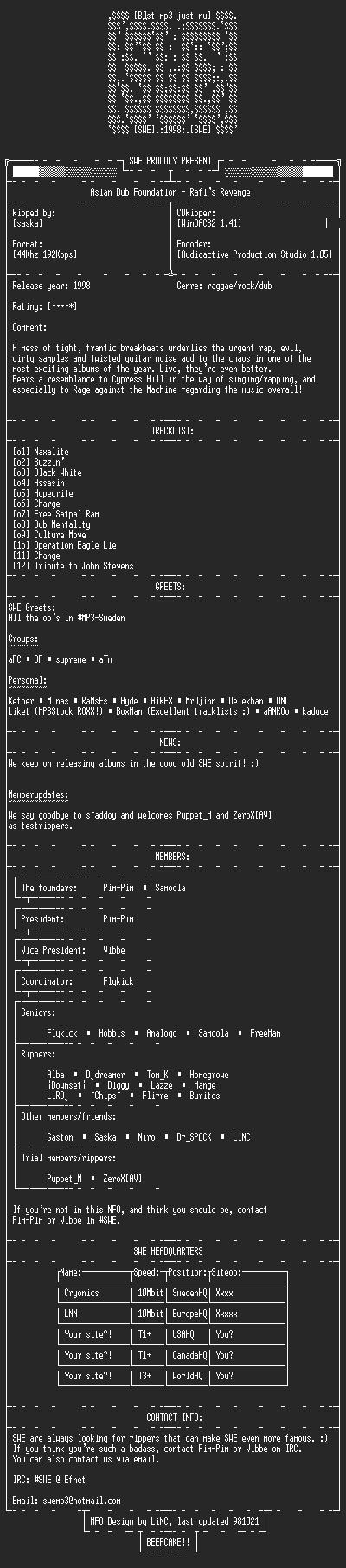 NFO file for Asian_Dub_Foundation_-_Rafi's_Revenge_-_SWE