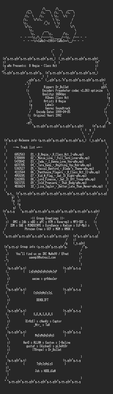 NFO file for Soundtrack_-_Class_Act-wAx