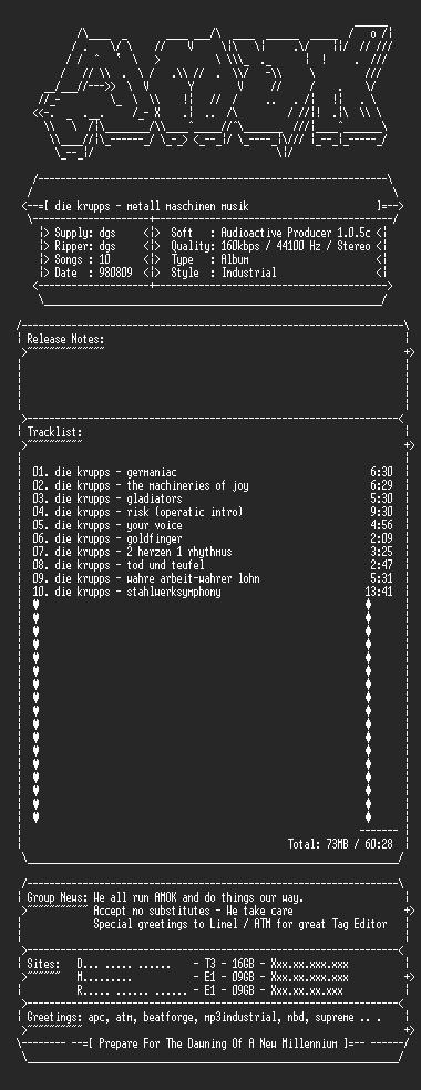 NFO file for Die_Krupps-Metall_Maschinen_Musik-AMOK