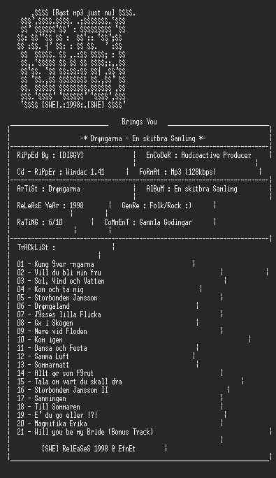 NFO file for Drangarna_-_En_Skitbra_Samling_-_SWE