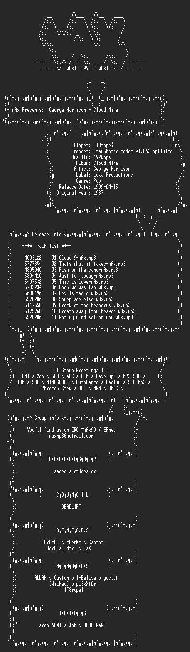 NFO file for George_Harrison_-_Cloud_nine_(1987)-wAx