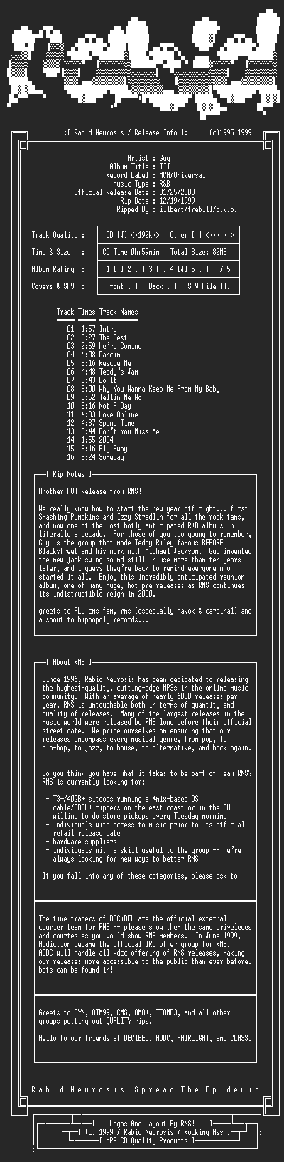 NFO file for Guy-III-2000-RNS