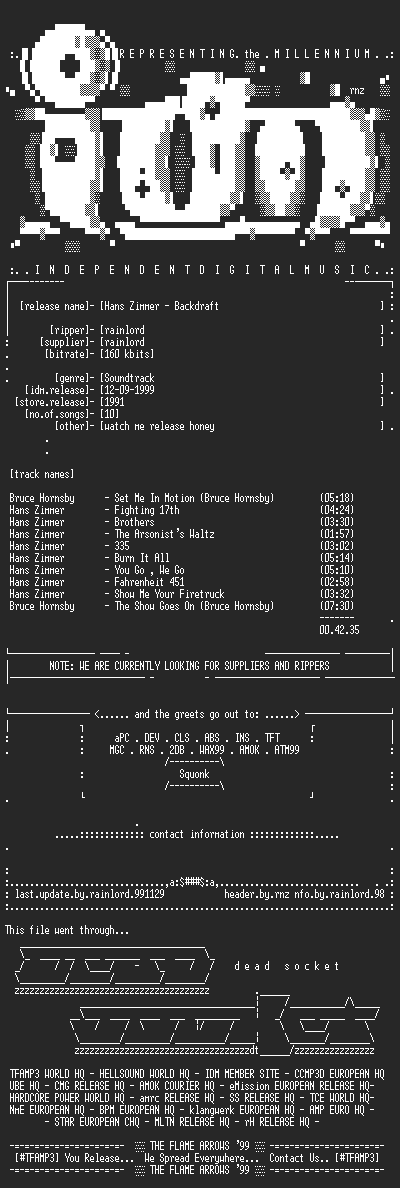 NFO file for Hans_Zimmer_-_Backdraft-(1991)-IDM