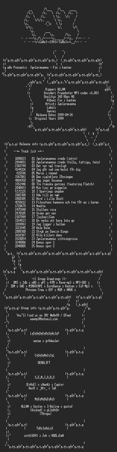 NFO file for Javlaranamma_-_Fin_i_kanten_(1999)-wAx