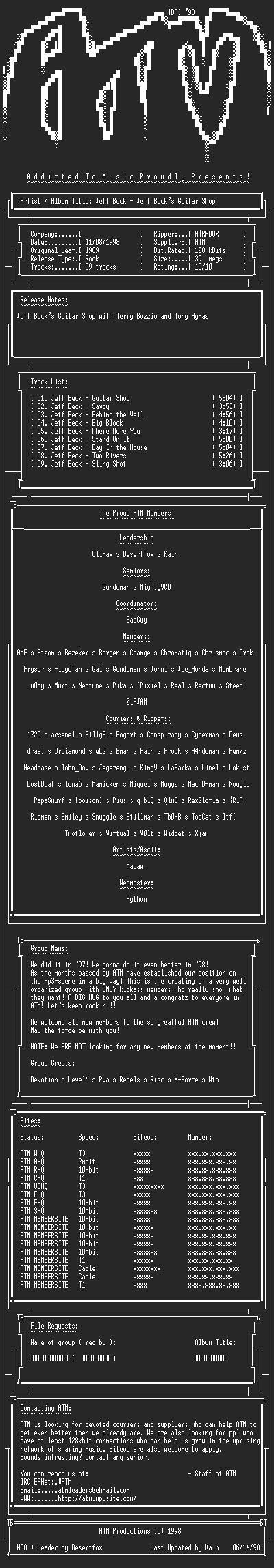 NFO file for Jeff_Beck_-_Jeff_Becks_Guitar_Shop_(1989)_-_ATM