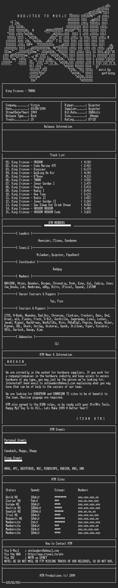 NFO file for King_Crimson_-_THRAK_-_(1994)-ATM