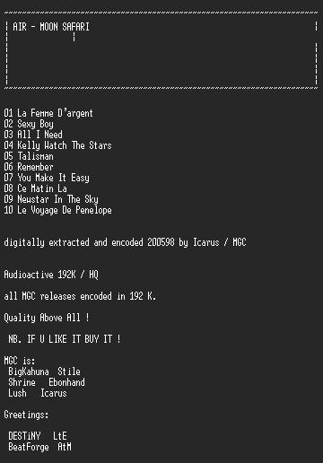 NFO file for Air-Moon_Safari-MGC