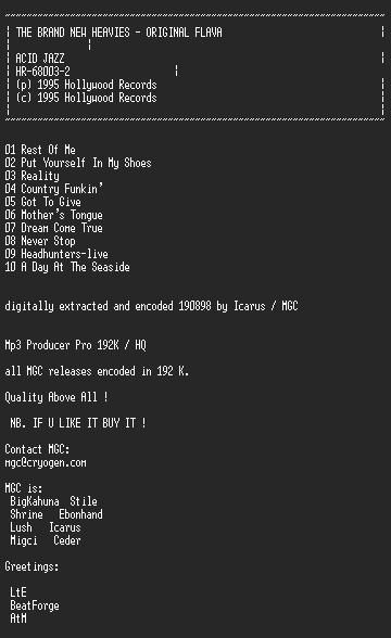 NFO file for The_Brand_New_Heavies_-_Original_Flava-MGC