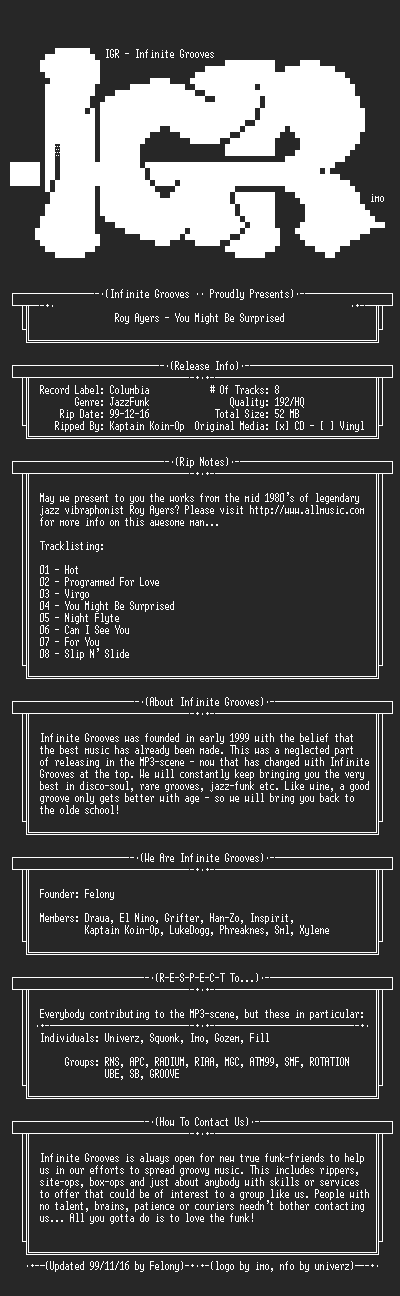 NFO file for Roy_Ayers-You_Might_Be_Surprised-1985-IGR