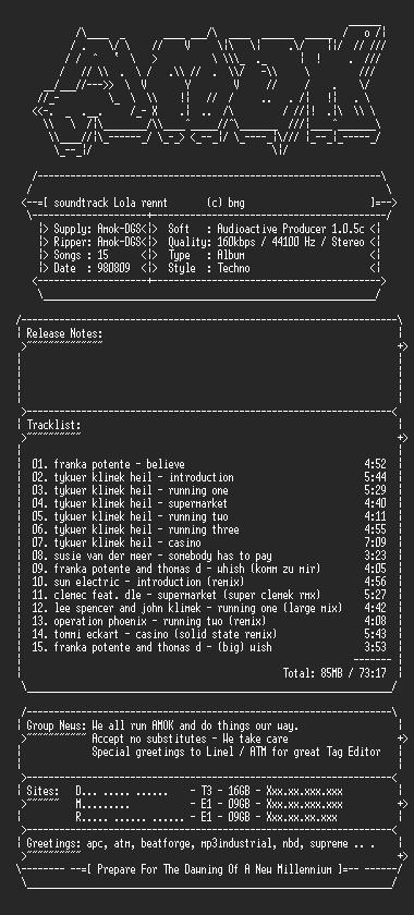 NFO file for Soundtrack_-_Lola_Rennt_(1998)-amok