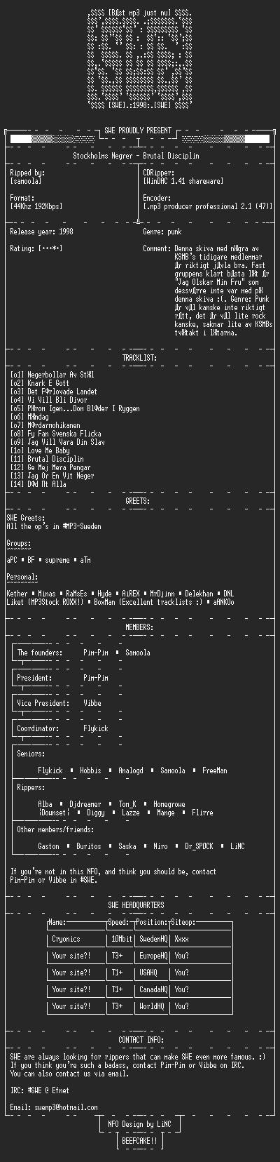 NFO file for Stockholms_Negrer-Brutal_Disciplin-SWE