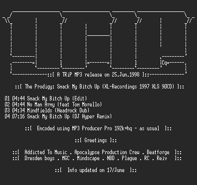 NFO file for The_Prodigy_-_Smack_My_Bitch_Up-TR1P