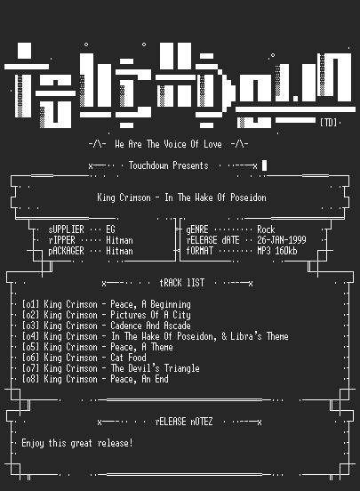 NFO file for King_Crimson_-_In_The_Wake_Of_Poseidon-TD