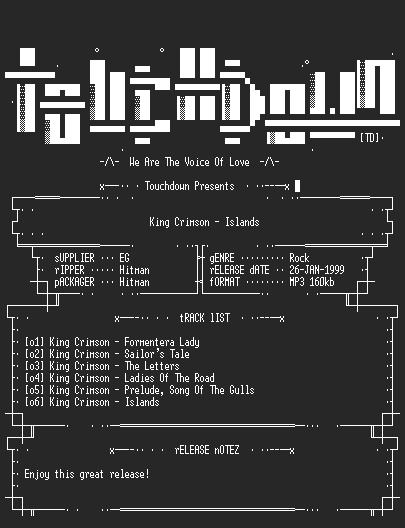 NFO file for King_Crimson_-_Islands-TD