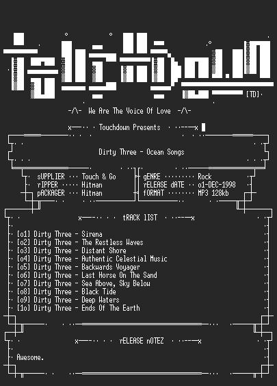 NFO file for Dirty_Three_-_Ocean_Songs-TD