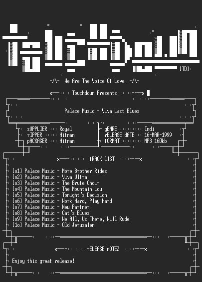 NFO file for Palace_Music_-_Viva_Last_Blues-(1995)-TD