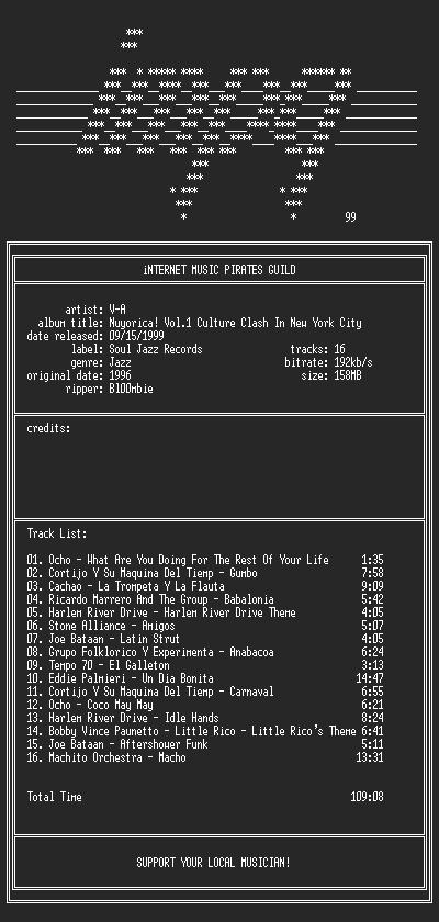 NFO file for V-A_-_Nuyorica_Vol.1-(1996)-iMPG