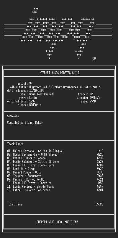NFO file for VA--Nuyorica.Vol.2-(1997)-iMPG