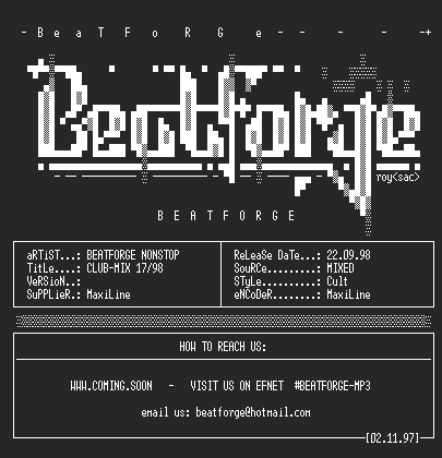 NFO file for (beatforge)-nonstop_club_mix_1798_bf