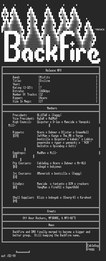 NFO file for Misfits-Evilive-Acero-BKF